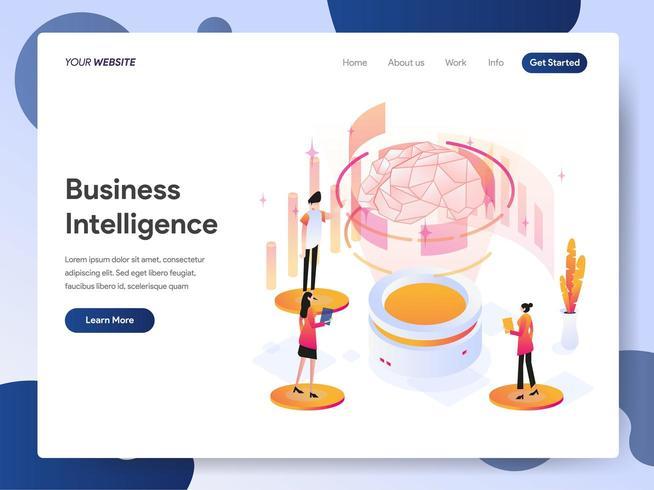 Illustrazione isometrica di business intelligence vettore