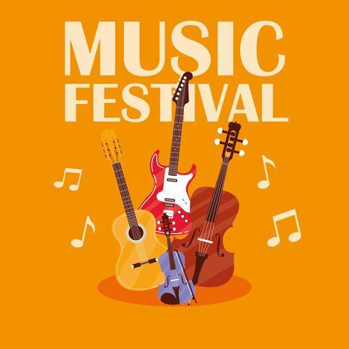Manifesto del festival musicale vettore