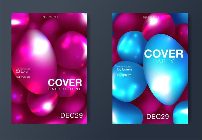 Layout poster moderno rivista vettore