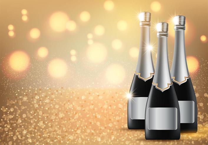Bottiglia di champagne vettore