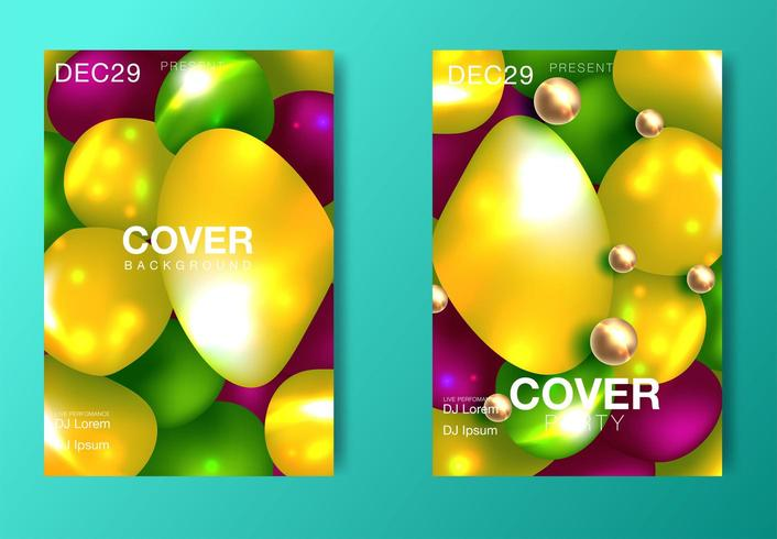 Layout poster moderno a colori vettore
