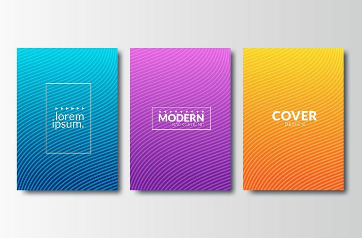 Set di disegni astratti copertina minimale vettore