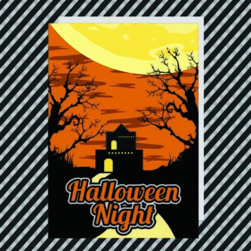 Poster di festa di Halloween vettore