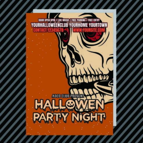 Volantino del club di invito festa di Halloween vettore