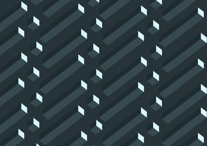 Modello di cubi geometrici grigi 3D realistico astratto vettore