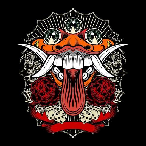 Maglietta Design Monster vettore