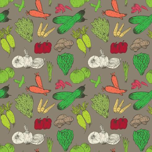 Fondo senza cuciture del modello delle verdure sane vettore