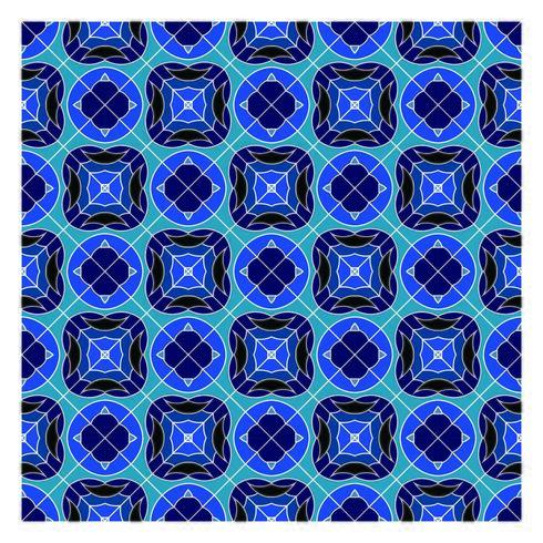 Modello senza cuciture geometrico blu vettore