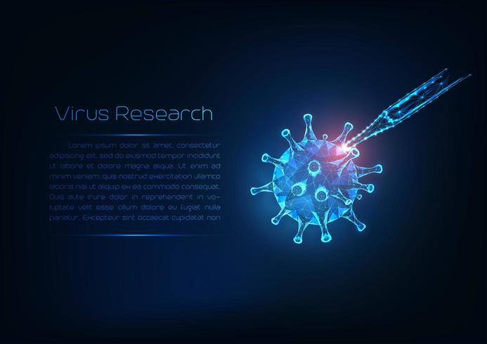 Concetto di ricerca di infezione virale vettore