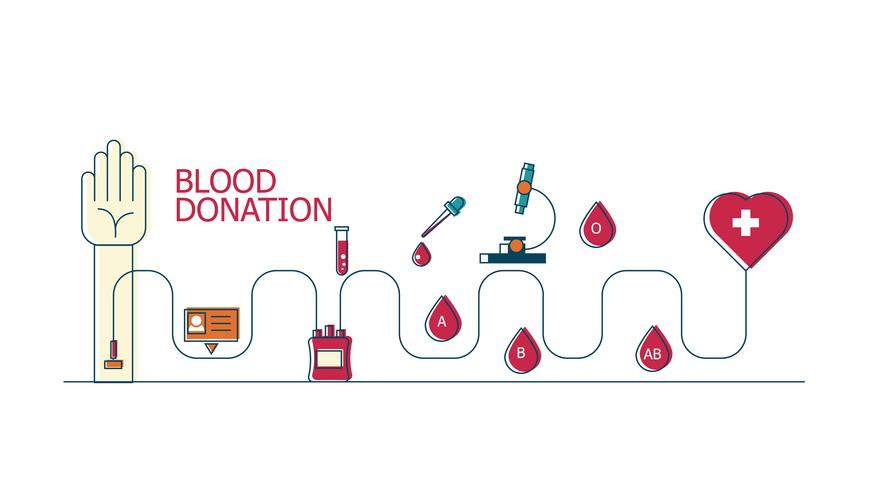 Fondo di concetto di donazione di sangue vettore
