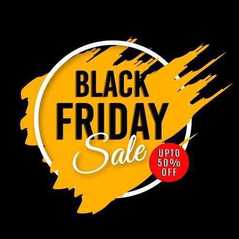 Sfondo di vendita del Black Friday vettore