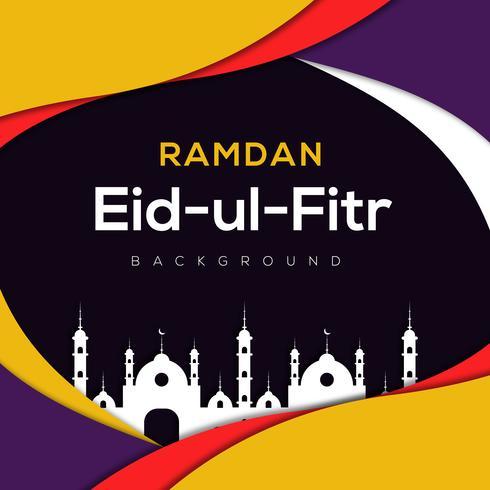Ramadan astratto sfondo islamico vettore