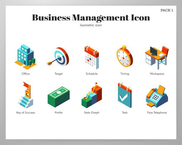 Pack di icone di gestione aziendale vettore