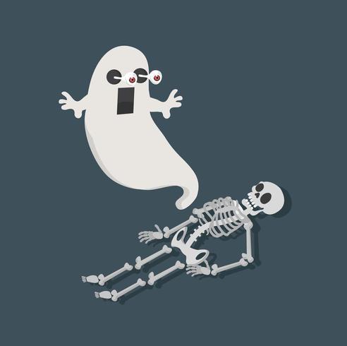 fantasma vettoriale con scheletro