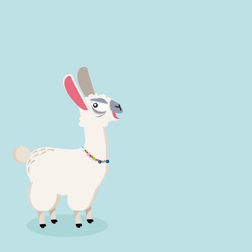 alpaca Animale divertente vettore