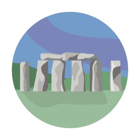 Punto di riferimento di Stonehenge su fondo bianco vettore