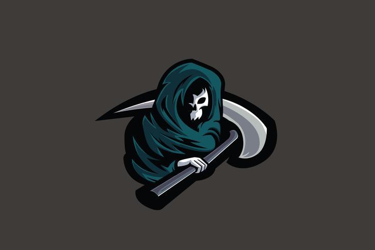 grim reaper esport mascotte vettore
