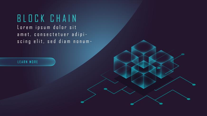 Criptovaluta e blockchain isometrici vettore