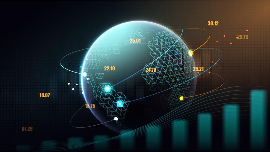 concetto futuristico di rete globale vettore