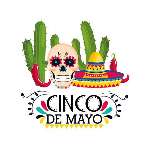 Poster di celebrazione di Cinco De Mayo vettore