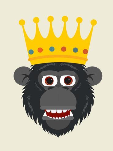 testa di scimmia re vettore