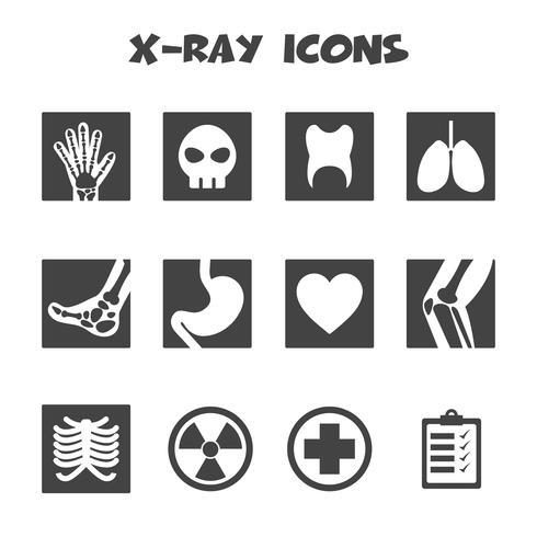 simbolo delle icone dei raggi x vettore