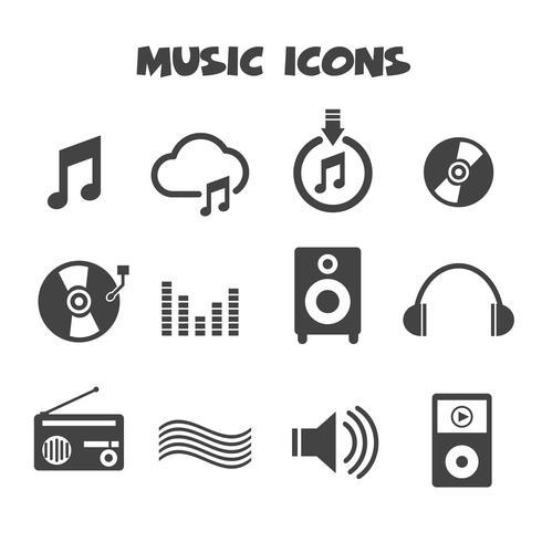 simbolo delle icone di musica vettore