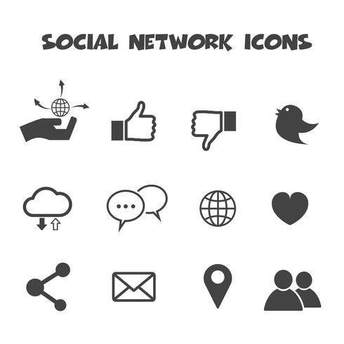 icone dei social network vettore