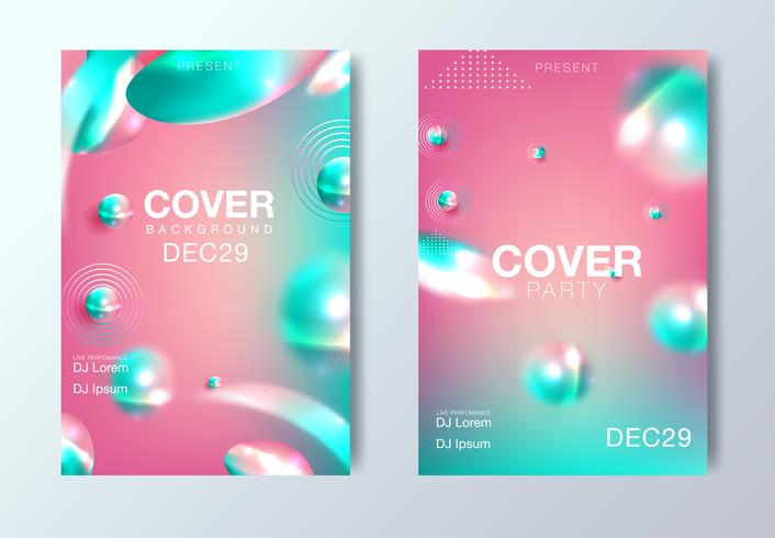 Electro night e electro party template design poster vettore