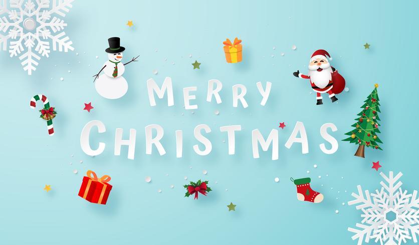 Merry Christmas Card vettore