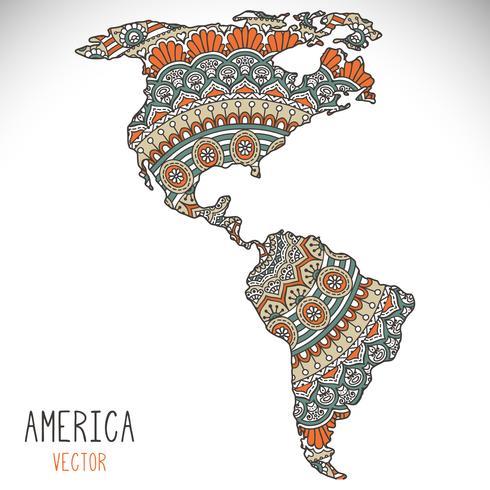 mandala mappa del mondo illustrazione vettore