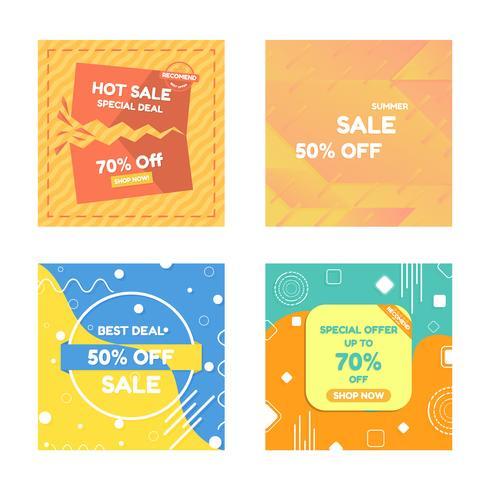 Set di set di poster di vendita vettore