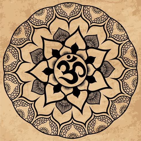 Mandala. Ornamento Rotondo vettore