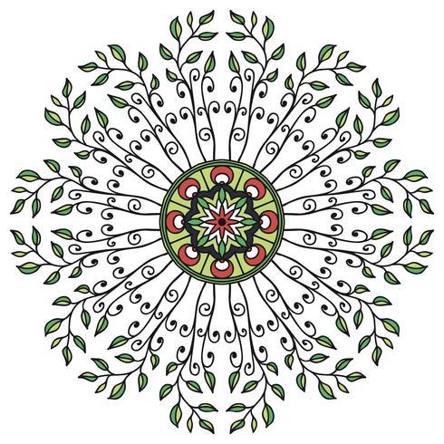 Mandala ornamento floreale in stile etnico vettore
