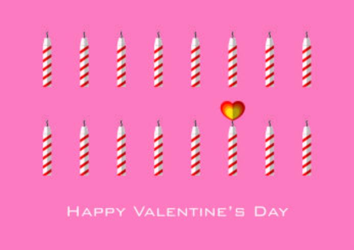 Candele con fiamma a forma di cuore per San Valentino vettore