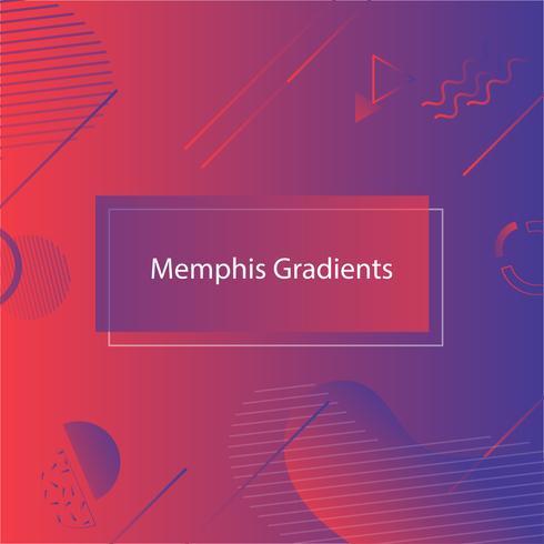Banner rosso-blu in stile Memphis vettore