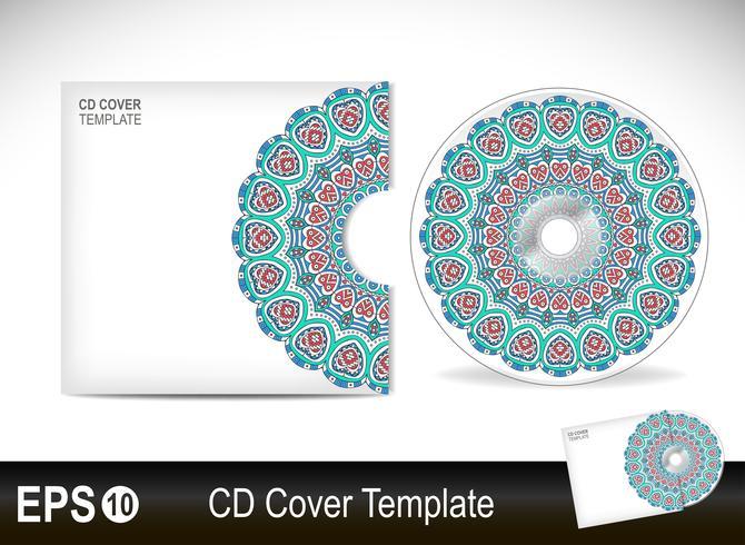 Modello di progettazione copertina CD in stile etnico vettore