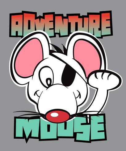 Mouse di avventura vettore
