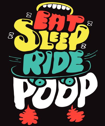 Eat Sleep Ride Skateboard vettore