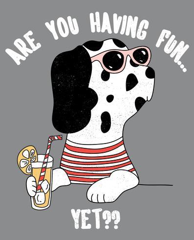 Ti stai divertendo ancora cane vettore