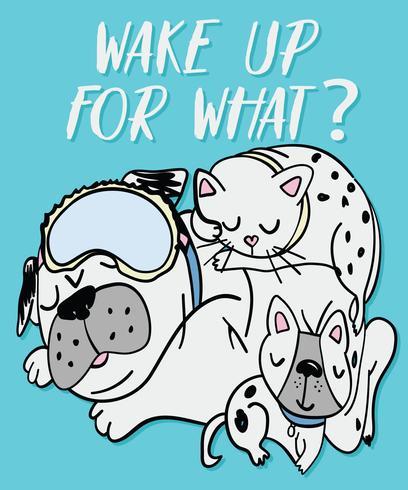 Svegliati per quale cane vettore