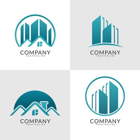 collezione logo immobiliare moderna vettore