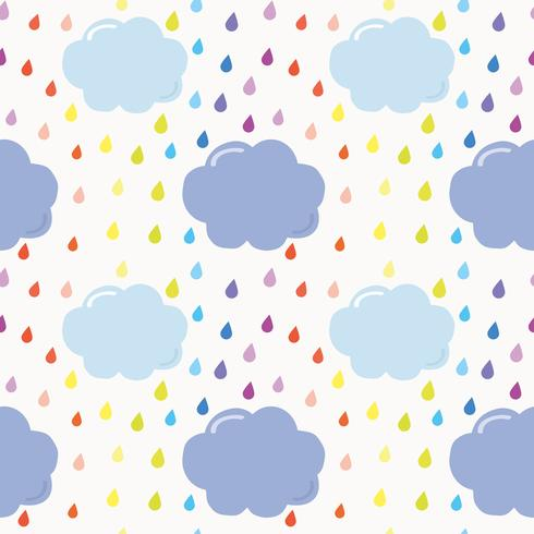 Fondo senza cuciture nuvola vettore