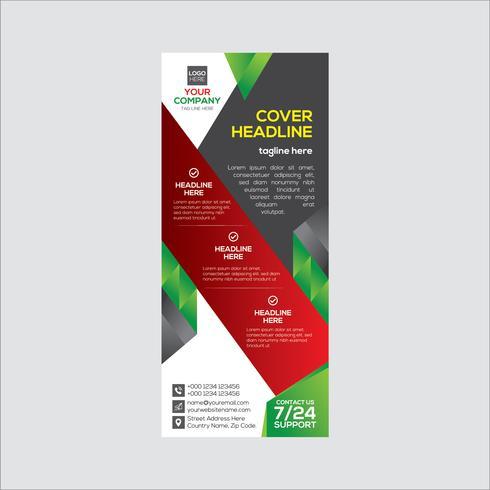 Design colorato banner aziendale vettore
