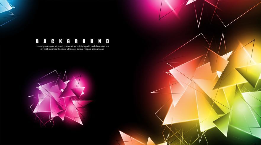Triangoli luminosi che si sovrappongono vettore
