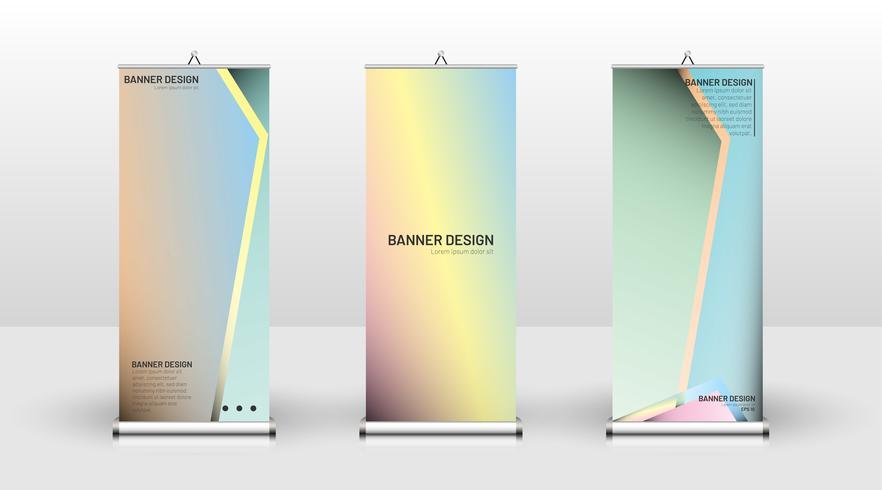Banner verticale vettore