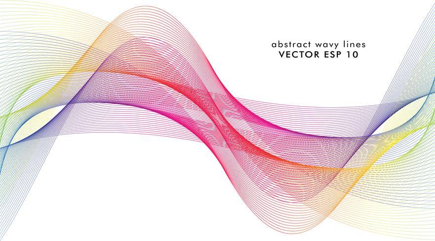 Estratto delle linee colorate dell'onda vettore