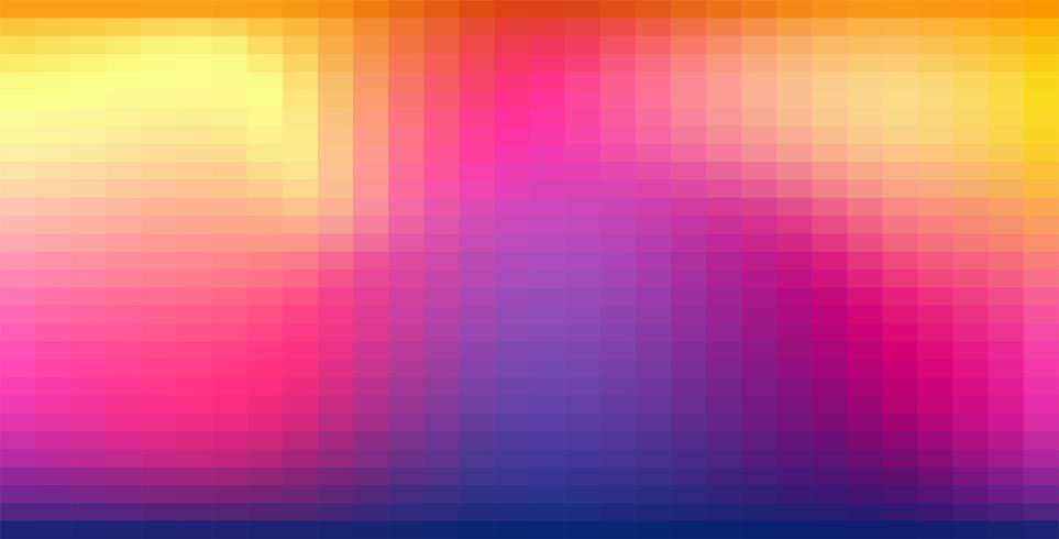 Sfondo luminoso di colore astratto Pixelate vettore