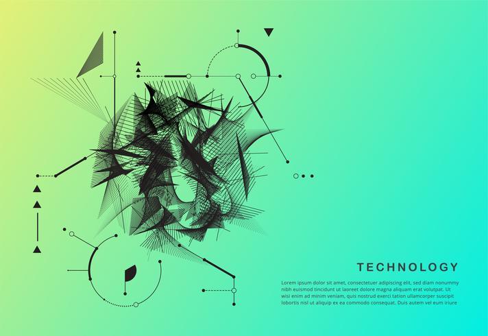 Manifesto di movimento tecnologia astratta vettore