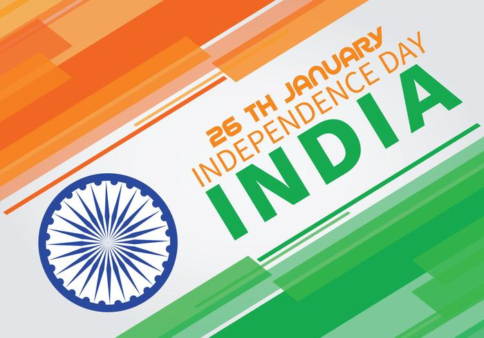 Colori astratti del fondo della bandiera indiana di festa dell'indipendenza vettore